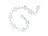 Sterling Silver Heart And Star Bracelet style: QG3267