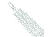Sterling Silver Polished Multi-strand Heart Link Bracelet style: QG3269