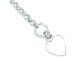Sterling Silver Polished Heart Bracelet style: QG3276