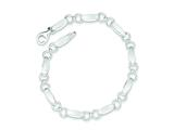 Sterling Silver Polished And Brushed Ovals And Circles Bracelet style: QG3301