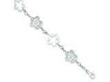 Sterling Silver Polished Flower Bracelet style: QG3340