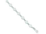 Sterling Silver Polished Flower Bracelet style: QG3343