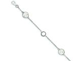 Sterling Silver Cubic Zirconia And Preciosa Crystal Bracelet style: QG3448