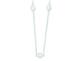 Sterling Silver Cubic Zirconia On 16 Chain Necklace style: QG40
