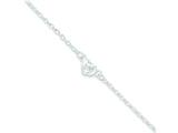 Sterling Silver Flower Charm Anklet style: QG665