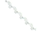 Sterling Silver Dolphins Bracelet style: QG851