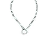 Sterling Silver Cubic Zirconia Heart Necklace style: QH1077