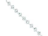 Sterling Silver 7.5inch Fancy Link Bracelet style: QH167