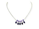 Sterling Silver Amethyst Necklace style: QH2118