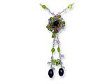 Sterling Silver Amethyst/lavender Quartz/peridot/blue Topaz Necklace style: QH2122