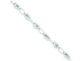 Sterling Silver 8.5inch Polished Fancy Link Bracelet style: QH224