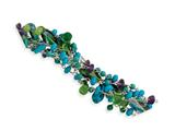 Sterling Silver Howlite/turquoise/amethyst/crystal/fluorite Bracelet style: QH2296