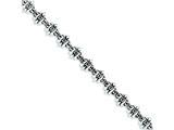 Sterling Silver Fleur De Lis Bracelet style: QH4477