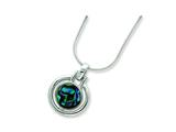 Sterling Silver Abalone Pendant Necklace style: QH709