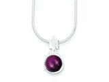 Sterling Silver Garnet Pendant W/chain - Chain Included style: QH774
