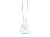 Sterling Silver Fancy Pendant W/ 18 Chain - Chain Included style: QH817