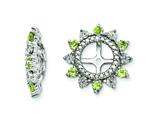 Sterling Silver Peridot Earring Jackets style: QJ105AUG