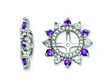 Sterling Silver Amethyst Earring Jackets style: QJ105FEB