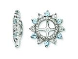 Sterling Silver Aquamarine Earring Jackets style: QJ105MAR