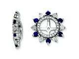 Sterling Silver Created Blue Sapphire Earring Jackets style: QJ105SEP