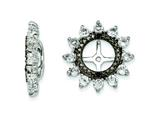 Sterling Silver White Topaz and Black Sapphire Earring Jackets style: QJ108APR