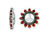 Sterling Silver Garnet and Black Sapphire Earring Jackets style: QJ108JAN