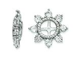 Sterling Silver White Topaz Earring Jackets style: QJ110APR