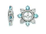 Sterling Silver Swiss Blue Topaz Earring Jackets style: QJ110DEC