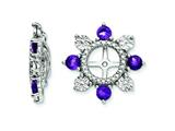 Sterling Silver Amethyst Earring Jackets style: QJ110FEB
