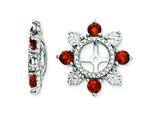 Sterling Silver Garnet Earring Jackets style: QJ110JAN