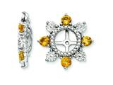 Sterling Silver Citrine Earring Jackets style: QJ110NOV