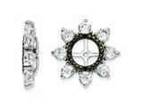 Sterling Silver White Topaz and Black Sapphire Earring Jackets style: QJ114APR