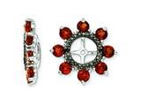 Sterling Silver Garnet and Black Sapphire Earring Jackets style: QJ114JAN