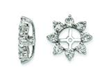 Sterling Silver White Topaz Earring Jackets style: QJ116APR
