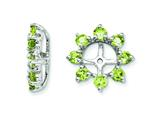 Sterling Silver Peridot Earring Jackets style: QJ116AUG
