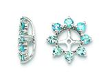 Sterling Silver Swiss Blue Topaz Earring Jackets style: QJ116DEC