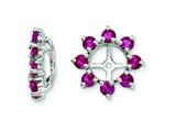 Sterling Silver Created Ruby Earring Jackets style: QJ116JUL