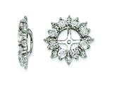 Sterling Silver White Topaz Earring Jackets style: QJ120APR