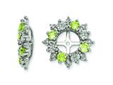 Sterling Silver Peridot Earring Jackets style: QJ120AUG