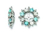 Sterling Silver Swiss Blue Topaz Earring Jackets style: QJ120DEC