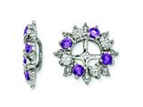 Sterling Silver Amethyst Earring Jackets style: QJ120FEB