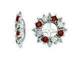 Sterling Silver Garnet Earring Jackets style: QJ120JAN