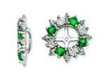 Sterling Silver Created Emerald Earring Jackets style: QJ120MAY
