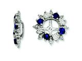 Sterling Silver Created Blue Sapphire Earring Jackets style: QJ120SEP