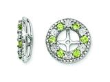 Sterling Silver Peridot Earring Jackets style: QJ124AUG