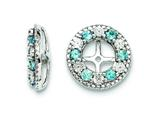 Sterling Silver Swiss Blue Topaz Earring Jackets style: QJ124DEC