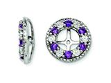 Sterling Silver Amethyst Earring Jackets style: QJ124FEB