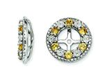 Sterling Silver Citrine Earring Jackets style: QJ124NOV