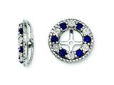 Sterling Silver Created Blue Sapphire Earring Jackets style: QJ124SEP