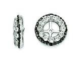 Sterling Silver White Topaz and Black Sapphire Earring Jackets style: QJ125APR